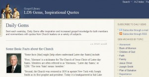 New LDS Gems Web Site