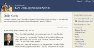 New LDS Gems Web Site